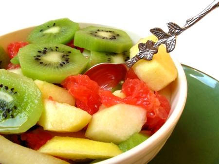 Salada de frutas tropicais imagem
